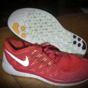 Men's Nike Free 5.0 Crimson Red